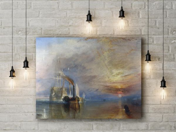 William Turner: The Fighting Temeraire. Fine Art Canvas.